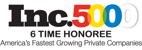 Inc 5000 6 Time Honoree - America's Fastest Growing Private Companies