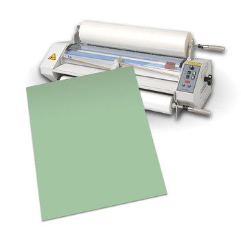 green foam sled with laminator