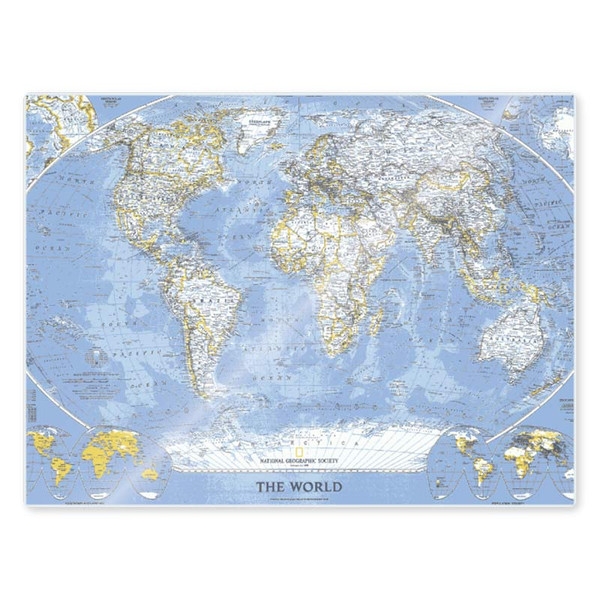 5 mil laminated map