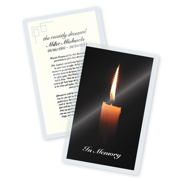 5 mil laminated memorial card