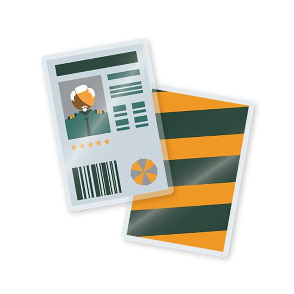 5 mil laminated military card