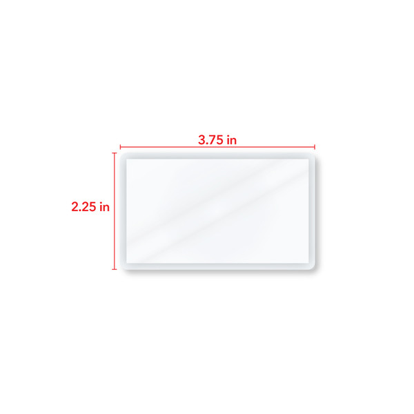 3.75 in by 2.25 in card measurement