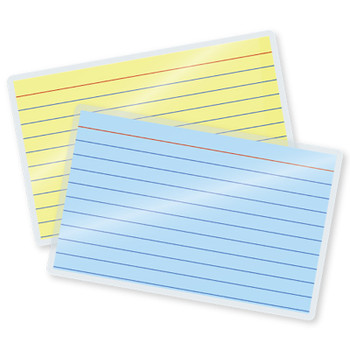 7 mil laminated index card