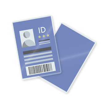 10 mil laminated id badge