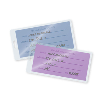 10 mil laminated tag with slot