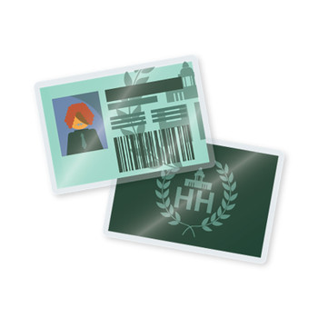 10 mil laminated school id cards