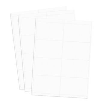 White badge tag paper