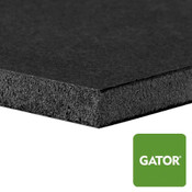 Heat Activated Black Gator Mounting Board - side view with green gator icon in corner