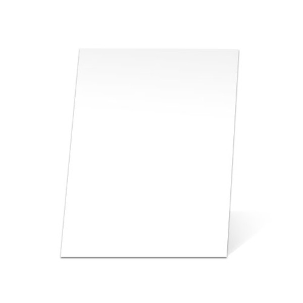 White Paper Mounting Boards - front view