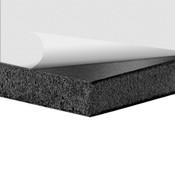 Black Foam Board With White Self-Stick Permanent Adhesive