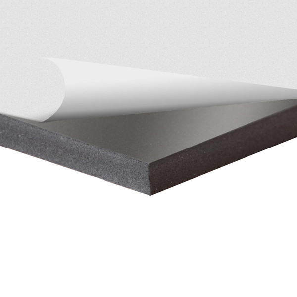 Black Sintra Board With Self Stick Permanent Adhesive 6mm