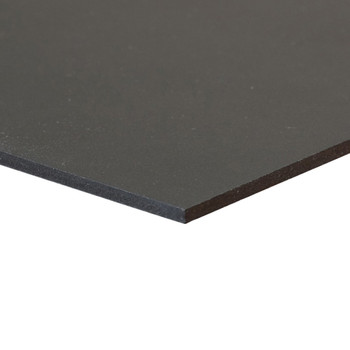 Black Sintra Board, No Adhesive - side corner view