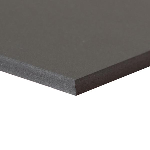 Black Sintra Board, No Adhesive - side view