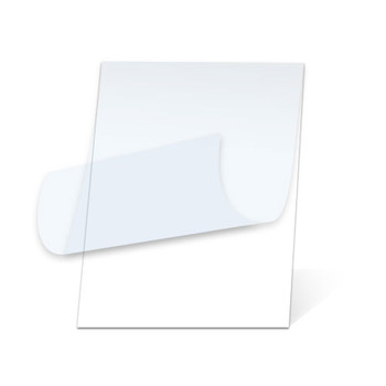 White Gloss Pouch Boards with top layer pulled back