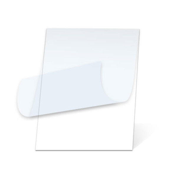 White Matte Pouch Board with top layer peeled back
