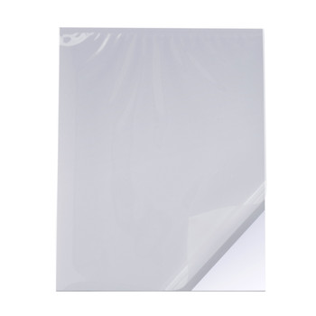 Cold Pouch White Gator Board, Gloss Film layer - top view
