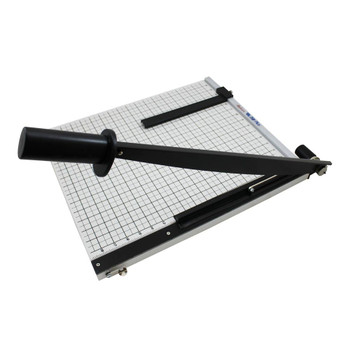 Manual Paper Trimmer 18 In. X 16 In. w/ black handle and grid lines