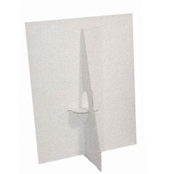 5 In. White Display Easels - Single-Wing