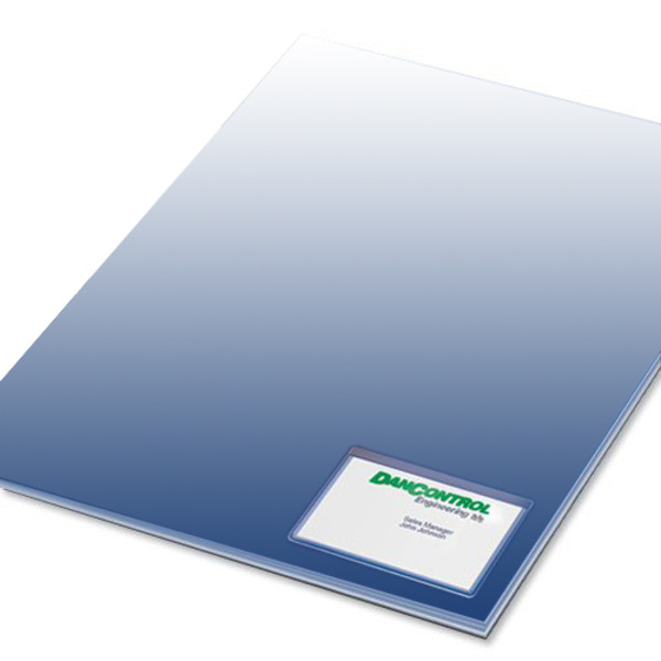 card pocket placed on document