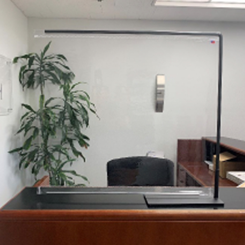 Countertop partition on office desk