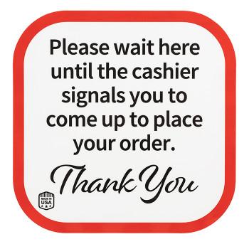 cashier floor sticker for distance