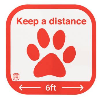 Keep a distance floor sticker