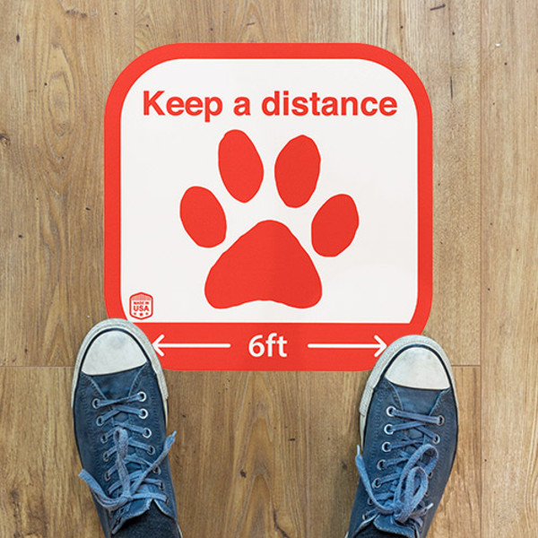 Sticker on wood floor