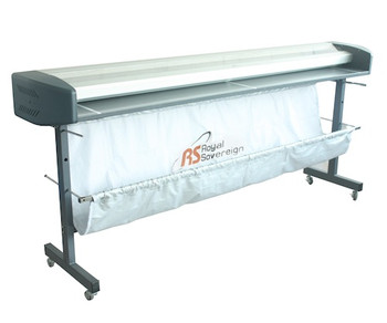 "65"" Wide Format Electric Trimmer with catcher and on stand"