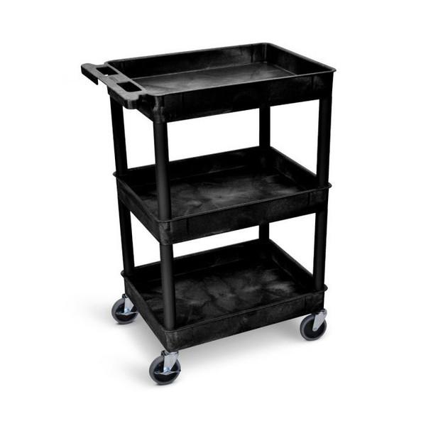 Tub Cart with Three Shelves