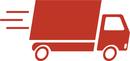 red shipping truck
