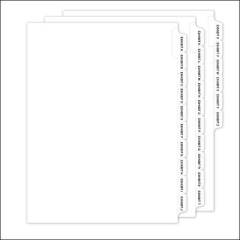 Set of pre-printed tabs