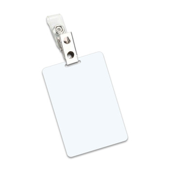 White 7 Mil Luggage Card Laminating Pouches With Clips