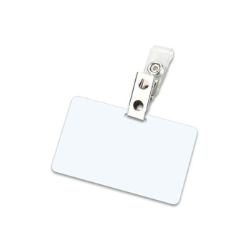 White 7 Mil Military Card Laminating Pouches With Clips