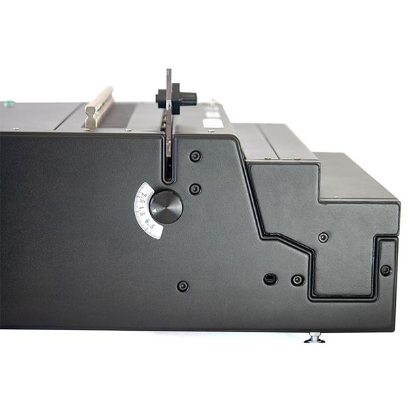 side depth margin control knob