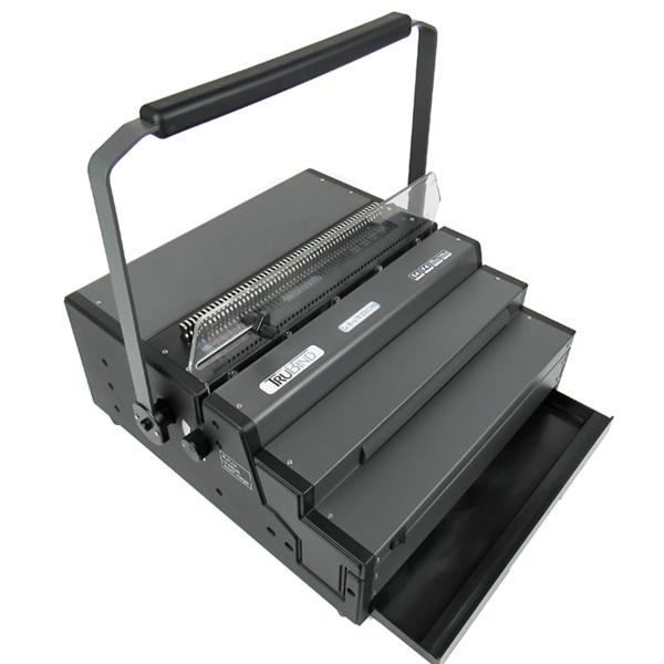 binding machine with waste bin