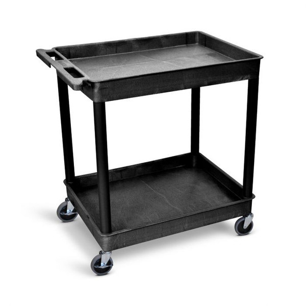Large Tub Cart with Two Shelves