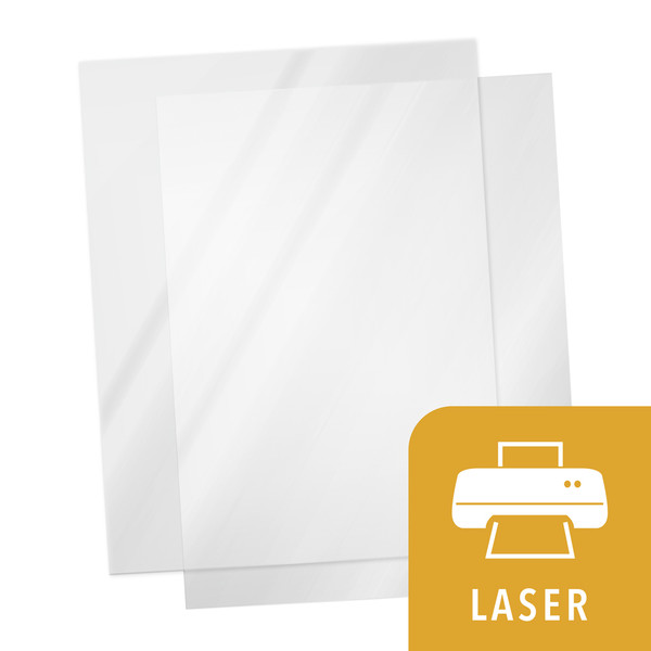 Transparency film w/ yellow laser icon