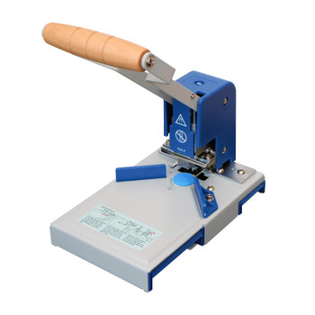 Blue and grey Heavy Duty Corner Rounder with wooden handle