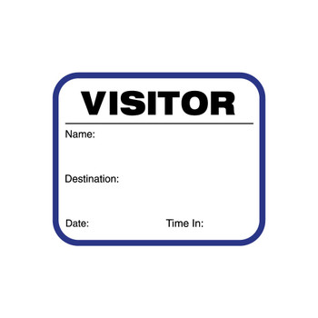 Blue Visitor Badge