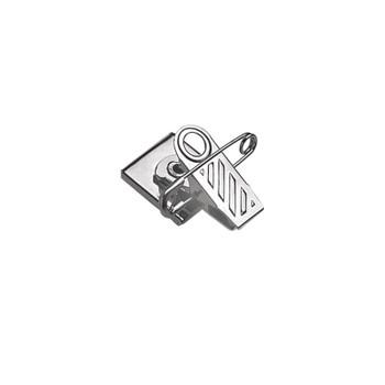 Silver Pressure-Sensitive Nickel-Plated Clip/Pin Combo